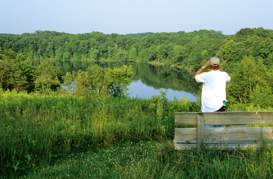 View of Dumke Lake along the Ice Age Trail in Chippewa County. Photo by Eric Sherman