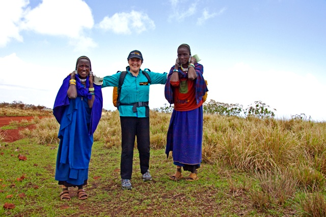 Helen Thayer with Maasai women. Her work is her play, it's her life.