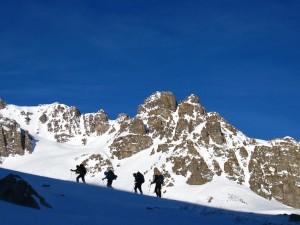 backcountry trekking in good weather
