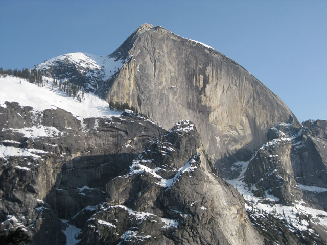 As you elevate on the Snow Creek Trail, Half Dome looms larger than life.