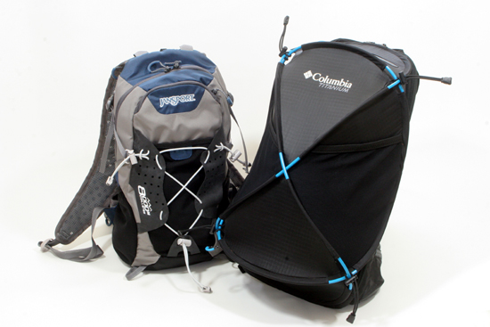 The Jansport Catalyst and Columbia Mobex are two lightweight backpacks that are prefect for trail runners or fast paced hikers.