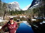 Spring day and clear sky in Yosemite.