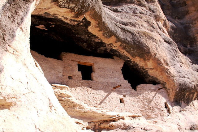 Gila Cliff Dwellings, NM_ the condo. Click to enlarge.