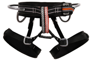A good harness doesn't have to be expensive. This Metolius Safe-Tech harness retails under $80 and is designed to help eliminate mistakes by beginners. An adjustable rise system makes it fit to your exact dimensions. www.metoliusclimbing.com 