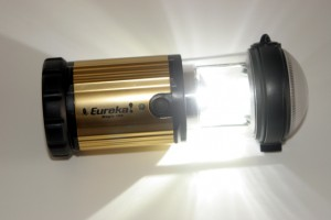 The Eureka Magic 185 weighs 10.5 ounces and is made from high-impact plastic and has an anodized aluminum shell. The light can be adjusted for high and low power, and has a flash signal.