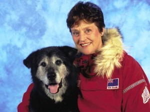 Helen Thayer and Charlie, her Eskimo dog.