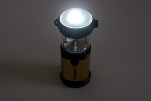 The Eureka! Magic 185 in flashlight mode has a bright 185 Lumens LED light within a plastic dome diffuser.