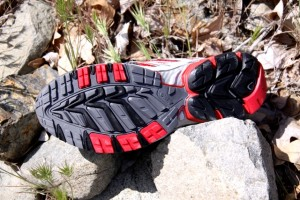 Asolo two-piece outsole offers excellent traction on the terrain types we hammered them with.