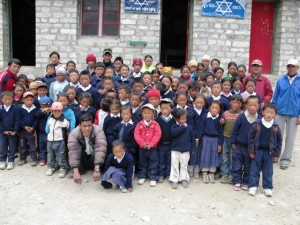 Sherpa children of Thames School in Apa's home village of Thames in Nepal. Photo: Apa Sherpa Foundation
