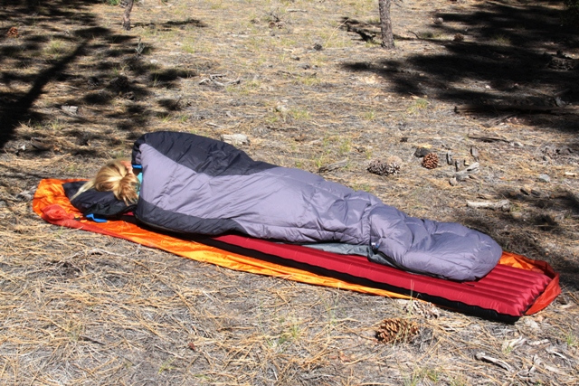 Big Agnes Yampa 40 down sleeping bag. Click to enlarge.