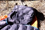 Yampa's pillow pocket works with a backpack cushion, down jacket, moss!