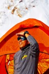 Apa Sherpa at Base Camp, Mt. Everest and looking to the future. Photo: Apa Sherpa Foundation