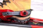 Here's the heel view of the Patriot 3 boots in Crescent Moon Golden 10 snow shoe bindings.