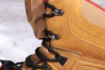 Workmanship on the Kamik Patriot 3 boots appeared to be high-end. Lace hooks are rustproof and strong; laces are high-quality.