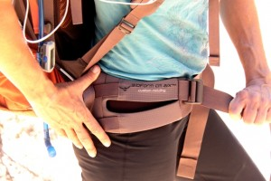 Bioform custom molding hipbelt manages pack load, and delivers on comfort.