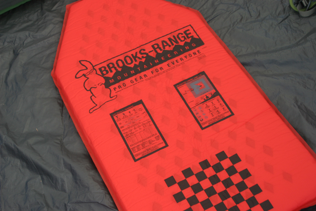 Brooks-Range alpini sleeping pad. Photo copywright FreshAirJunkie.com