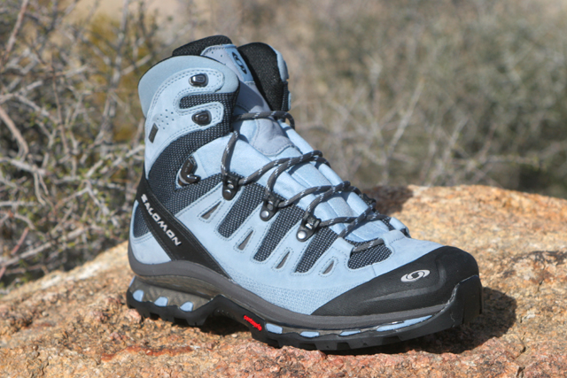 The Salomon Quest 4D GTX hiking boot offers the lightweight functionality of a trail-running shoe with the added support needed for a serious hiking shoe.