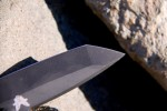 Bob Lum's tanto blade design is stout and effective.