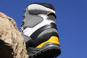 LOWA Cevedale GTX uppers are mountaineering split leather and microfiber construction.