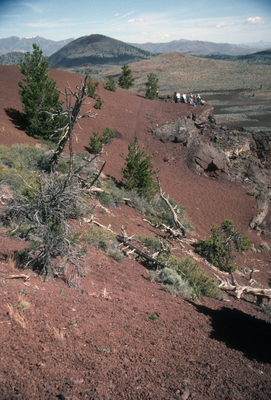 A view of Echo Crater in Craters Of The Moon NP