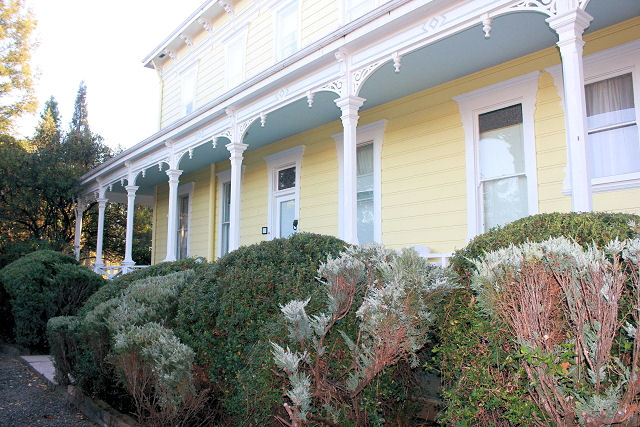 Many windows at the inn
