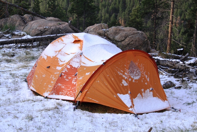 Thor 2P tent after spring snowfall. & Marmot Thor Two Person Four-Season Tent Review u2013 Fresh Air Junkie