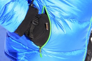 Hand warmer pockets are large enough for cargo and gloved hands.