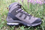 Nubuck leather and textile fabrics combine to reduce boot weight, but provide good support.