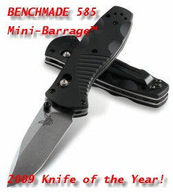 Stout, stealthy, and razor sharp, the Benchmade 585 Mini-Barrage is also kinda' slick.