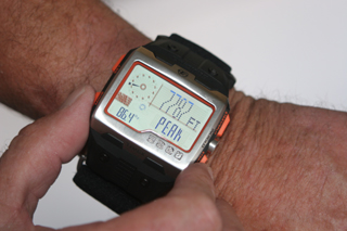 Timex Expedition WS4 altimeter display