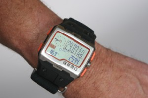Timex WS4 barometer display.