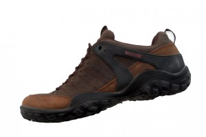 The Wolverine Omni has full leather uppers with rubber heel and toe protectors.