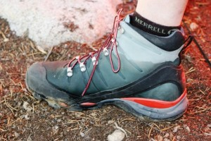 Although uppers take on water, waterproof boot liners work well.