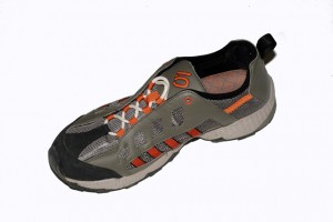 The open synthetic mesh upper makes for great ventilation and quick drying when you get this shoe wet.