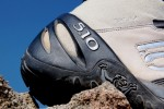 Rubber shielding on Exum Guide boots encase soft leather upper from heel to toe.