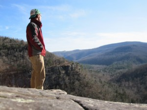 Daniel Byrum in Buffalo River Wilderness, Arkansas