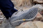 Vibram outsoles offer good grip, but have enough void-space between lugs so debris don't get caught. Mt. Khakis Lake Lodge Twill pants were also tested on this hike.