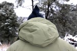BTU's down insulated hood is fully adjustable and roomy enough for wearing optional headgear.