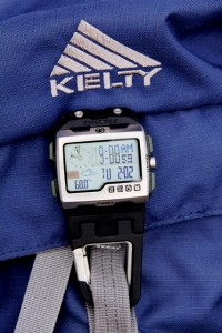 WS4 Carbiner Expedition watch on Kelty Pawnee 3200 packpack.