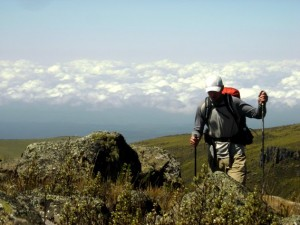 Justin Lichter hiking across African wildnerness...alone! Call him naive, call him what you will. But call him Trauma...