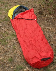 The Brooks-Range UltraLite Alpini bivy easly fits most mummy bags and the UltraLite nylon is strong, breathable and water resistant.