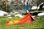 Marmot Home Alone Bivy at First Lake in High Sierra.