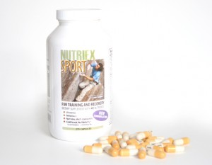 Nutriex Sport is a multi-vitamin that contains glucosamine and chondroitin, as well as minerals, vitamins and natural antioxidants that can help with recovery.