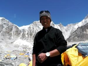 Apa Sherpa at Mt. Everest base camp. Photo: Apa Sherpa Foundation.