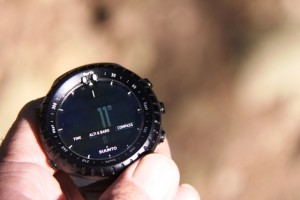 Whether on or off your wrist, keep the Core level for compass accuracy.