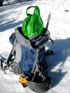 Granite Gear Drysack used in Kelty Pawnee search and rescue training hike.