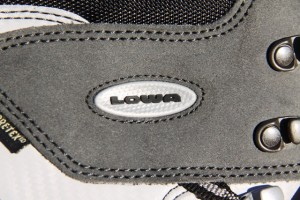 LOWA logo and view of Italian craftmanship. Click all photos to enlarge.