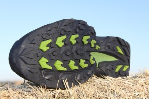 Outsole of 5.10 Dome with Stealth technology.