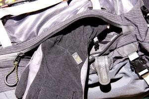 Jansport Eichorn 60 side pocket with Mt. Hardwear Hydra gloves.