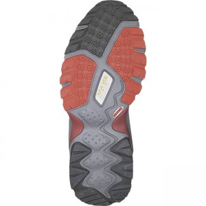 The outsole has plenty of grip on the toe and sides of the shoe, but sacrafices a bit of tread for the comfort section on the heel. We didn't experience any slipping however and the extra comfort really made a difference during this long and rugged trek.